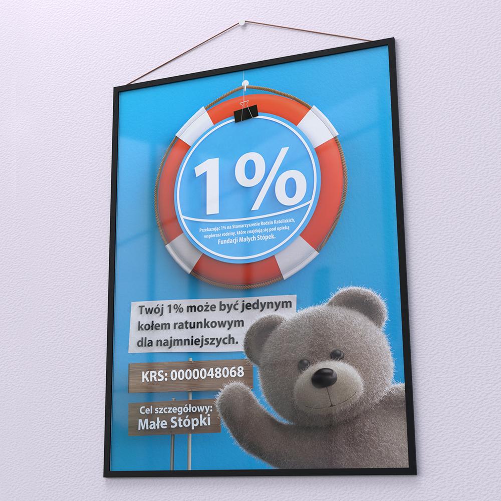 plakat 1% fundacja malych stopek