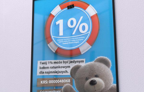 Plakat 1% podatku