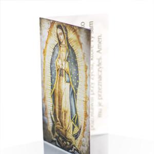 Wizytówka z modlitwą Duchowej Adopcji Guadalupe